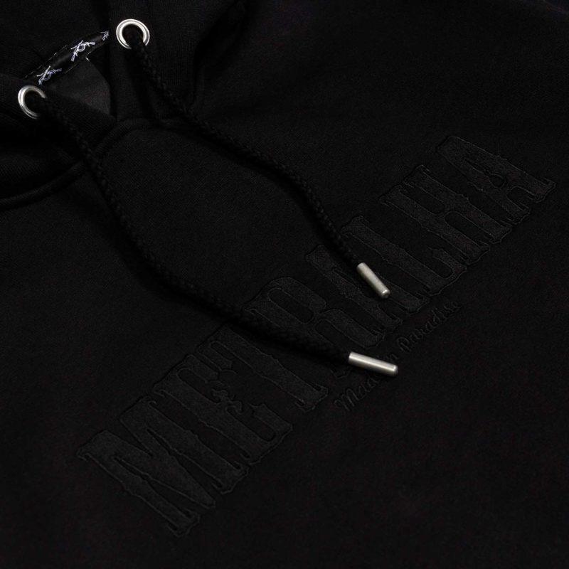 battle hoodie full black embroidery