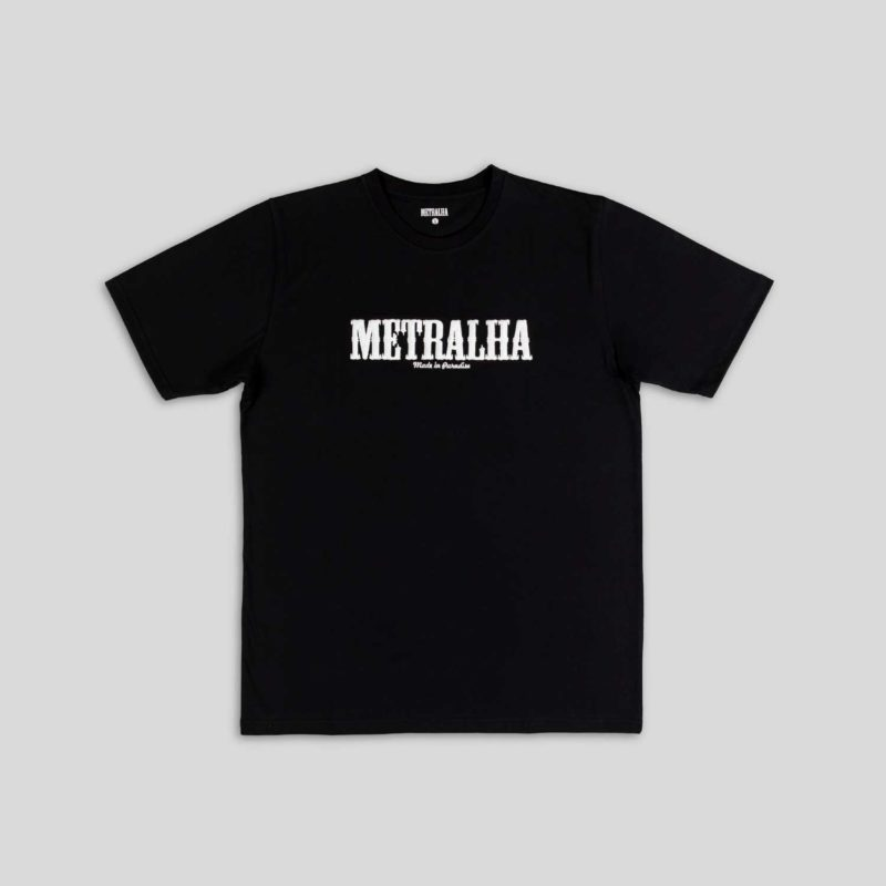battle t-shirt black embroidery logo