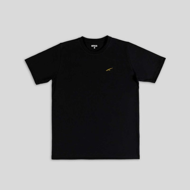 prestige t-shirt black embroidery