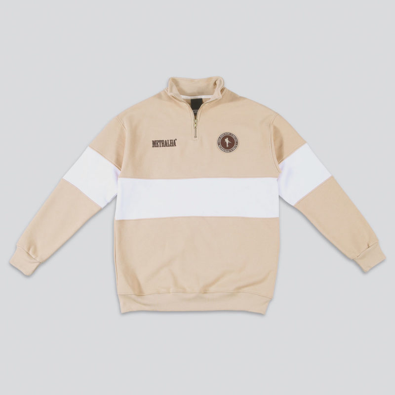 metralha-worldwide-sweat-zip-camel-white